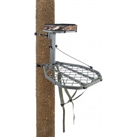 tree-stand Summit Feather Weight Switch installé sur un tronc d'arbre
