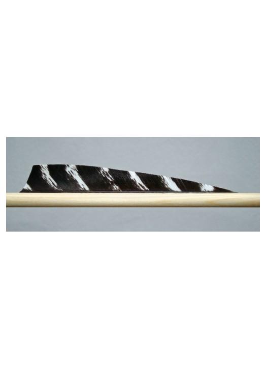 plume naturelle en Dindon forme shield longueur 5 pouces
