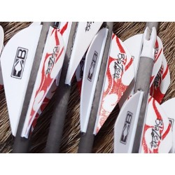 empennage flèche compound vanes plastique 2 pouces